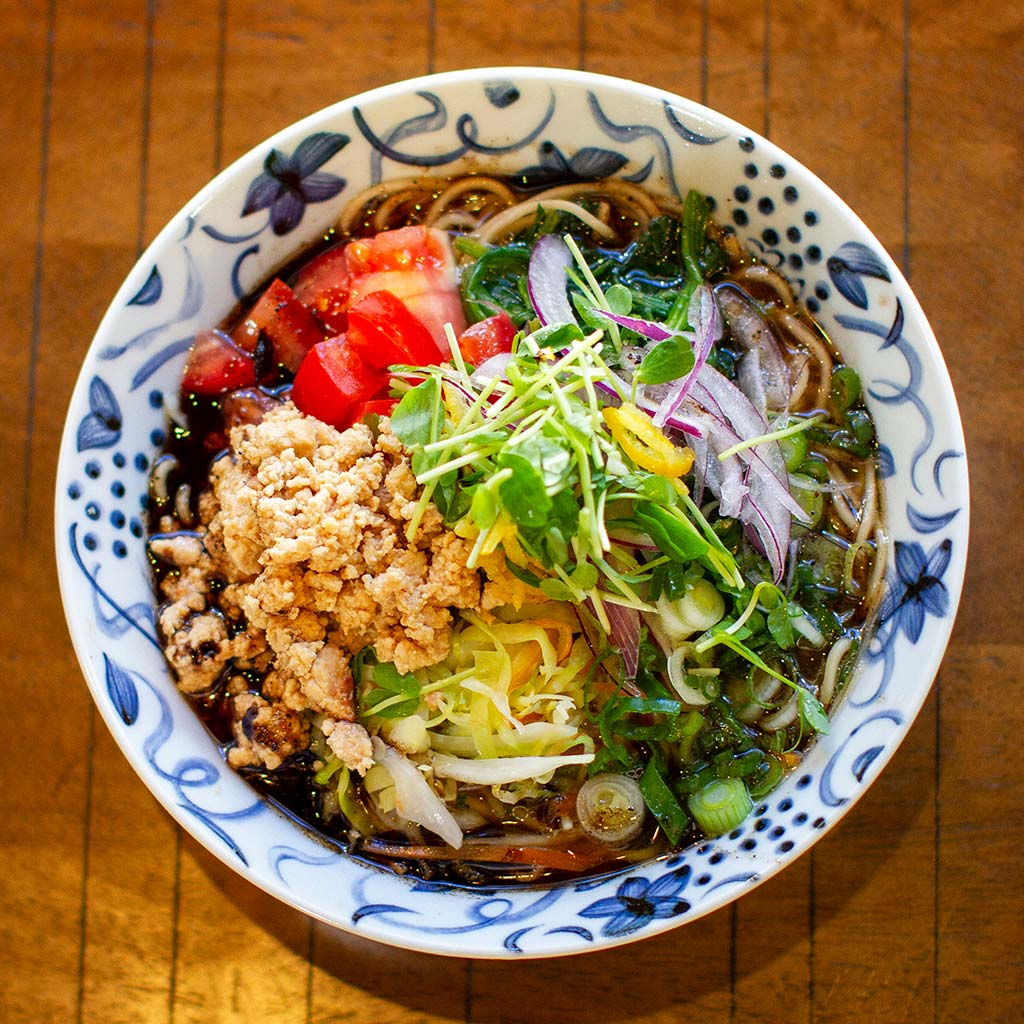 Vegan Ramen served at Wasabi Ramen and Izakaya in downtown Kelowna