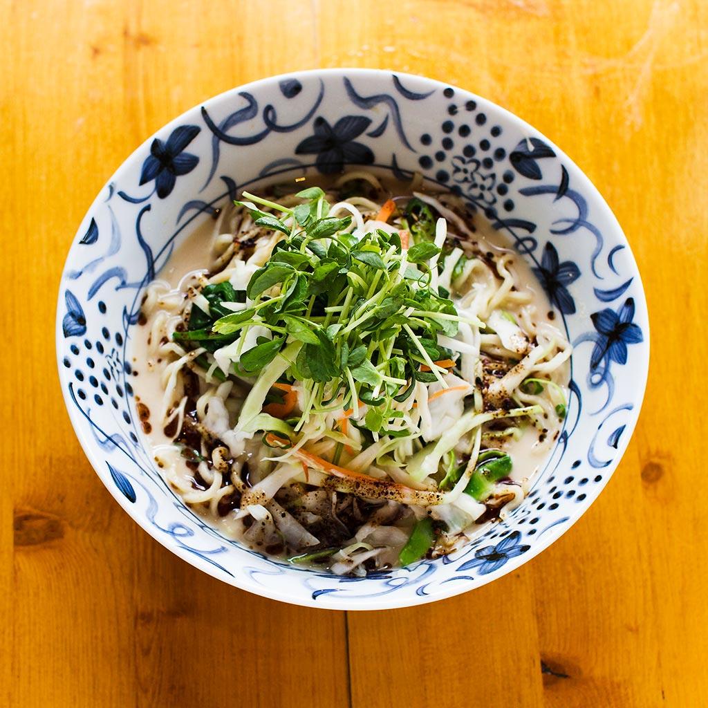 Vegetarian Ramen served at Wasabi Ramen and Izakaya in downtown Kelowna