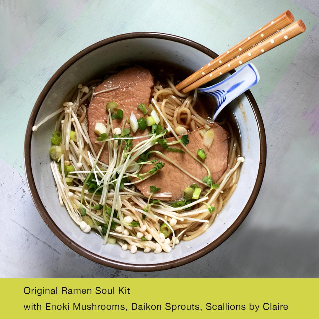 Wasabi Ramen of Kelowna– Original Ramen Soul Kit with added toppings