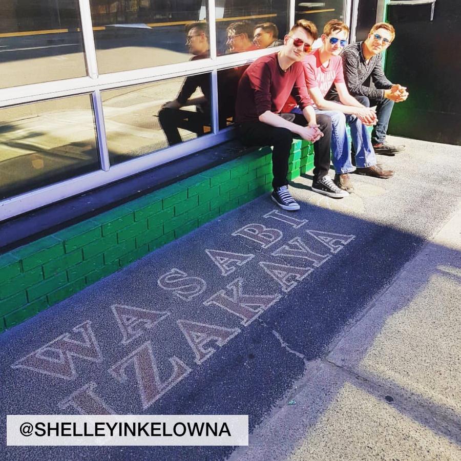 Fans waiting to get into Wasabi Ramen in Kelowna