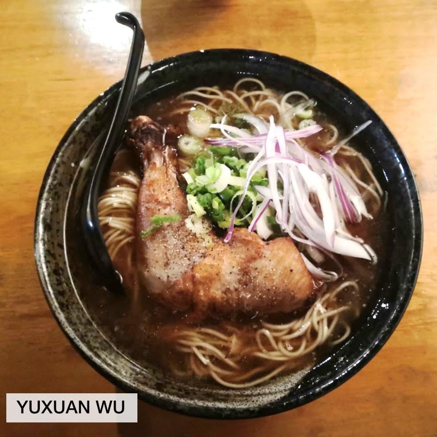 bowl of ramen photo by Yuxuan Wu, taken at Wasabi Ramen in Kelowna